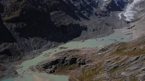 Antena del glaciar de Grossglockner, Austria almacen de metraje de vídeo