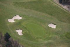 Antena del golf Fotografía de archivo