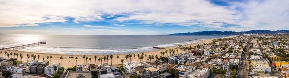Antena del LA de Los Angeles California de la playa de Venecia fotografía de archivo libre de regalías