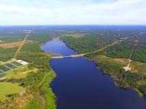 Antena del lago, extremo norte foto de archivo libre de regalías
