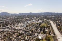 Antena del norte de la autopista sin peaje de Hollywood California Imagen de archivo