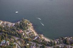 Antena del oeste de Vancouver Imagen de archivo libre de regalías