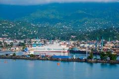 Antena del puerto de Batumi Imagenes de archivo