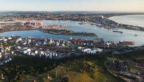 Antena del puerto de Durban Imágenes de archivo libres de regalías