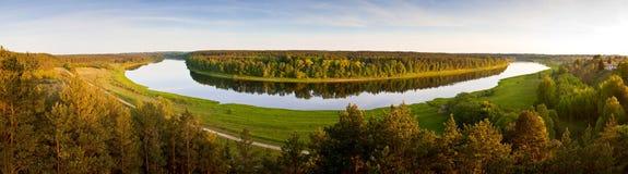 Antena del río del Daugava Fotografía de archivo