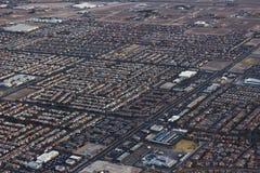 Antena del suburbio de Las Vegas fotografía de archivo libre de regalías