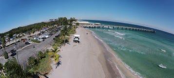 Antena del sur de la playa de la Florida Fotos de archivo