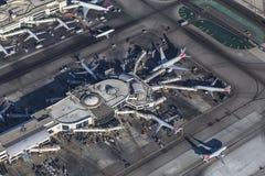 Antena del terminal de aeropuerto de Los Ángeles LAX Fotos de archivo libres de regalías
