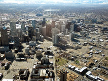 Antena Denver céntrica Fotos de archivo libres de regalías