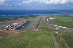 Antena do aeroporto de Havaí foto de stock royalty free
