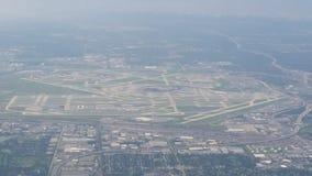 Antena do aeroporto internacional de O'Hare Foto de Stock Royalty Free