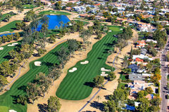 Antena do campo de golfe Foto de Stock