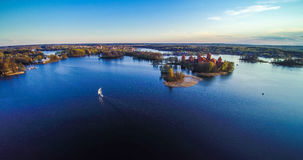 Antena do castelo de Trakai Fotografia de Stock Royalty Free