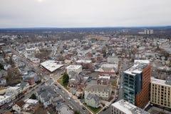 Antena do dia nublado em Novo Brunswick New-jersey fotos de stock
