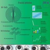Antena do Fractal Olá!-tecnologia infographic Vetor da tecnologia do Fractal Fotografia de Stock Royalty Free
