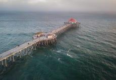 Antena do Huntington Beach Califórnia fotografia de stock royalty free