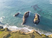 Antena do litoral áspero de Mendocino em Califórnia foto de stock