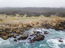 Antena do litoral bonito de Califórnia do norte Fotografia de Stock