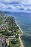Antena do litoral de Maui. imagem de stock royalty free