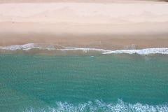 Antena do oceano & da areia Foto de Stock Royalty Free