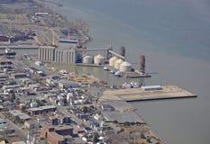 Antena do porto de Sorel imagens de stock royalty free