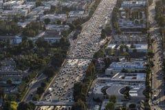 Antena do tráfego da autoestrada de Los Angeles Ventura 101 Fotografia de Stock