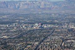 Antena editorial céntrica de Las Vegas fotografía de archivo