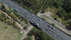 Antena estática de la autopista sin peaje australiana almacen de video