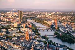 Antena Frankfurt magistrala w Niemcy, Europa - zdjęcie stock