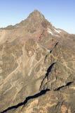 Antena góra Kenja, Afryka i śnieg w Styczniu drugi wysoka góra przy 17.058 ciekami lub 5199 metrami Obraz Royalty Free