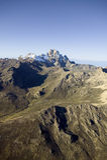 Antena góra Kenja, Afryka i śnieg w Styczniu drugi wysoka góra przy 17.058 ciekami lub 5199 metrami Obrazy Royalty Free
