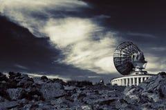 Antena grande sobre el cielo nublado Foto de archivo libre de regalías