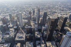 Antena gruesa de la niebla con humo del verano de Los Ángeles Imagen de archivo libre de regalías