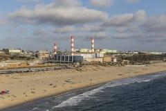 Antena industrial de la costa de Los Ángeles Imagen de archivo libre de regalías