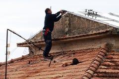 Antena instalator zdjęcia royalty free
