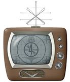 Antena isolada da tevê do vintage vetor retro imagens de stock royalty free