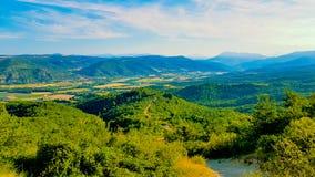 Antena krajobraz wieś przy Provence Fotografia Royalty Free
