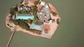 Antena Kyauk Kalap pagoda, Hpa-An, Myanmar zbiory wideo