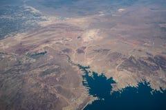 Antena Las Vegas i Jeziorny dwójniak od samolotu Fotografia Royalty Free
