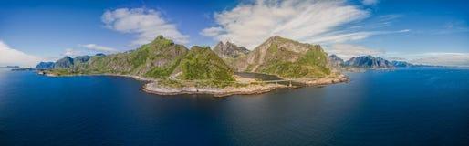 Antena Lofoten wyspy obrazy stock