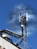 Antena móvel Imagem de Stock