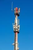 Antena móvel das telecomunicações Foto de Stock Royalty Free