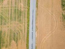 Antena miasteczko otaczający ziemią uprawną w Shrewsbury, P Obrazy Royalty Free