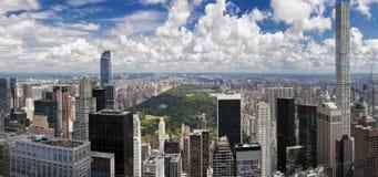 Antena Miasto Nowy Jork linia horyzontu Zdjęcia Royalty Free