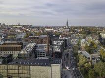 Antena miasto Tallinn, Estonia obraz stock