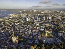 Antena miasto Tallinn, Estonia fotografia stock