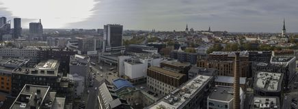 Antena miasto Tallinn, Estonia fotografia royalty free