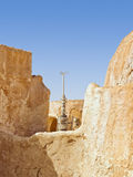 Antena na vila de deserto abandonada Imagens de Stock