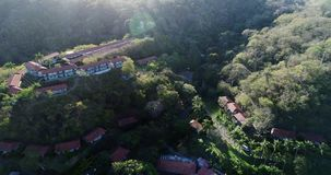 Antena nad wioską w Costa Rica zbiory