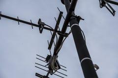 Antena, nieba tło obrazy stock